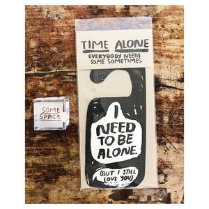 Alone Time Door Hanger & Some Space Ear Plugs